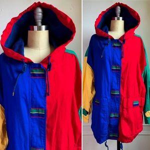 Jackets & Blazers - Vintage Multicolor Cotton Jacket